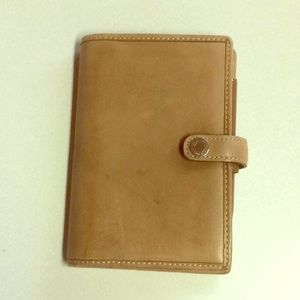 Coach leather passport/notepad holder - used
